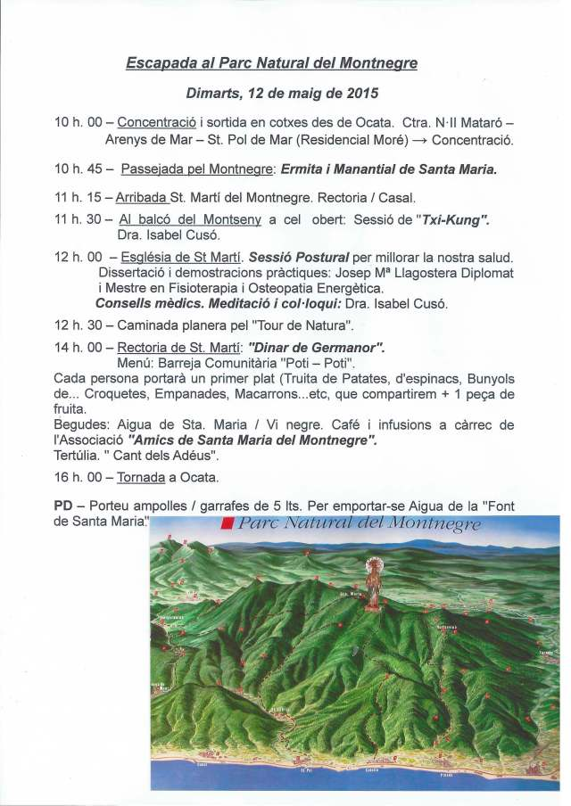 Sortida Montnegre 12 maig